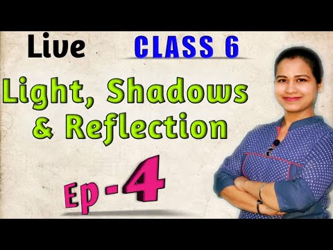 LIGHT SHADOWS AND REFLECTION (Ep-4)   Live   Class 6  