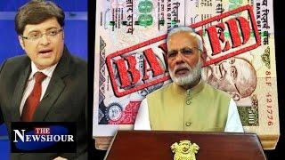 PM Modi's SURGICAL STRIKE On Black Money: The Newshour Debate (8th Nov)