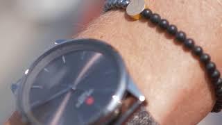 Sem Lewis Piccadilly King's Cross St. Pancras beaded bracelet black/grey (4 mm bead)