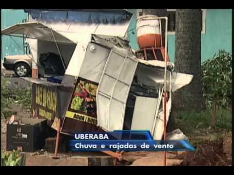 MG: Chuvas causam estragos em Uberaba