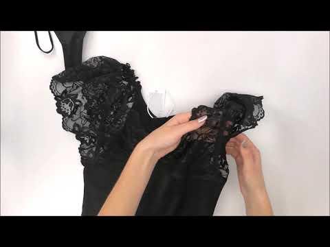 Minikleid Negligee Imperia chemise - Obsessive