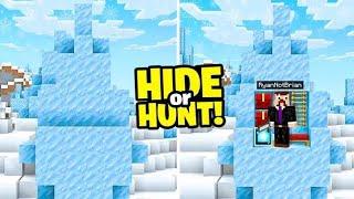 I made a SECRET Minecraft ICE SPIKE base.. (Hide Or Hunt)