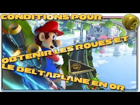 Mario Kart 8 - Comment obtenir les roues et le deltaplane en Or ? (Wii U)
