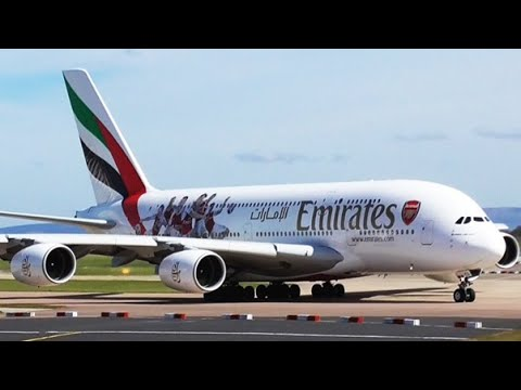 Emirates * Arsenal FC | A6-EES | A380-861 At Manchester Airport | 10/04/2016 | Arrival & Departure