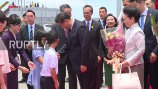 Chinese President Xi Jinping and his wife Peng Liyuan arrived at Hong Kong airport, Thursday to start a three day visit in celebration of the 20th anniversary of ...