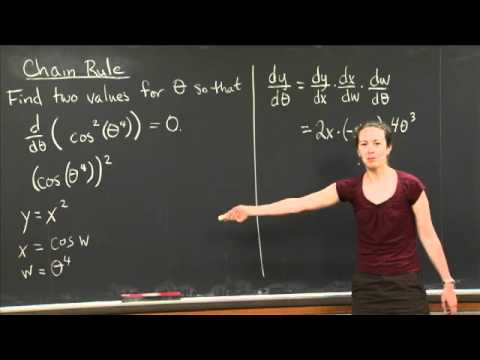 Chain Rule | MIT 18.01SC Single Variable Calculus, Fall 2010