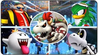 ►Mario and Sonic at the London 2012 Olympic Games (Wii)►Playlist : https://goo.gl/HbB7It►Bosses in order :00:00 - E-123 Omega - 100m, 4x100m Relay (rematch)03:02 - Eggman Nega - Fencing-Epee, Dream Fencing (rematch)06:40 - Birdo - 100m Freestyle, Badminton Doubles (rematch)13:29 - Dry Bones - Table Tennis: Singles, Dream Hurdles (rematch)19:25 - Jet the Hawk - Dream Discus22:14 - King Boo - Dream Sprint24:37 - Dry Bowser - Dream Long Jump27:13 - Rouge the Bat - 110m Hurdles►Twitter : http://Twitter.com/YTNintenU►Avatar Picture : http://ratchetmario.deviantart.com►Game Informations :Developers : Sega, RacjinNintendo SPD Group No.4Publishers : Sega (NA, EU)  Nintendo (JP)Platform : WiiRelease date USA November 15, 2011 Australia November 17, 2011 Europe November 18, 2011 Japan December 8, 2011 Genre : SportsModes : Single Player, Multiplayer, London Party, Wi-Fi, Bonus Mode, ►No Commentary Gameplay by NintenU (2017)◄