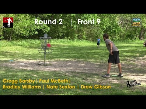 The Disc Golf Guy – Vlog #274 – McBeth Barsby Sexton Williams Gibson – Rnd 2 Front 9 – Nick Hyde