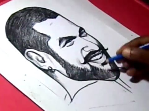 How To Draw INDIAN CRICKETOR Shikhar Dhawan DRAWING For Kids