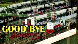 Video KA Argo Parahyangan dan KA Lokal Bandung Raya meninggalkan Stasiun Bandung