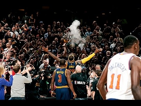 IN - Lebron is back...back home!! Watch Cleveland and Lebron start off the new season with an epic chalk toss. About the NBA: The NBA is the premier professional basketball league in the United...
