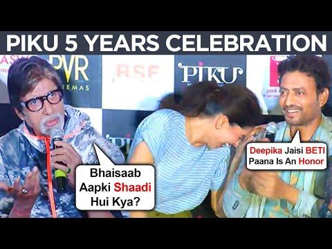 Deepika Padukone, Irrfan Khan, Amitabh Bachchan FUNNY And BEST MOMENTS From Piku Trailer Launch
