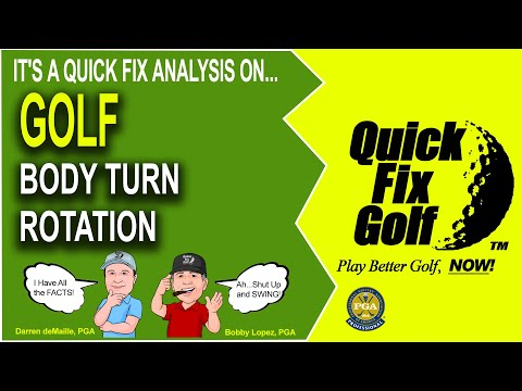 Golf Lesson Body Turn