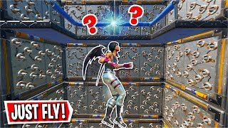 He made a 20 Level FLYING ONLY Deathrun... *FUN* (Fortnite Creative)