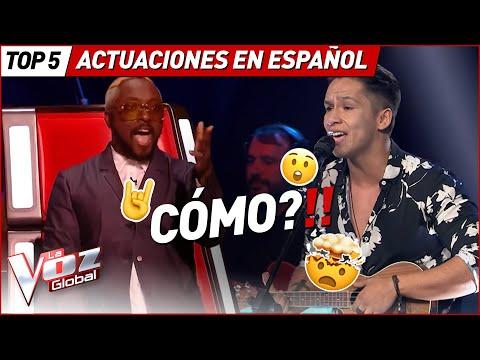 Quedaron BOQUIABIERTOS con estas actuaciones en ESPAÑOL en La Voz
