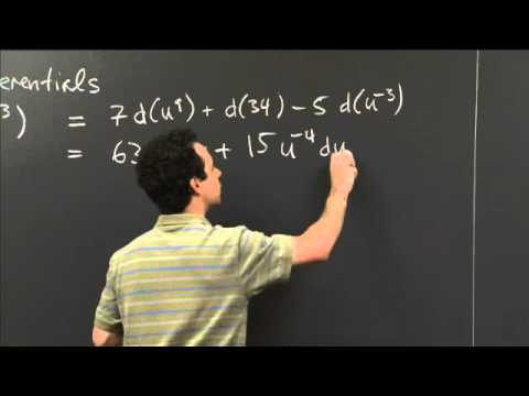 Computing Differentials | MIT 18.01SC Single Variable Calculus, Fall 2010