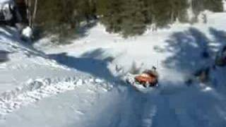 4. Snowmobile jump - Artic Cat Z 570 -pegged