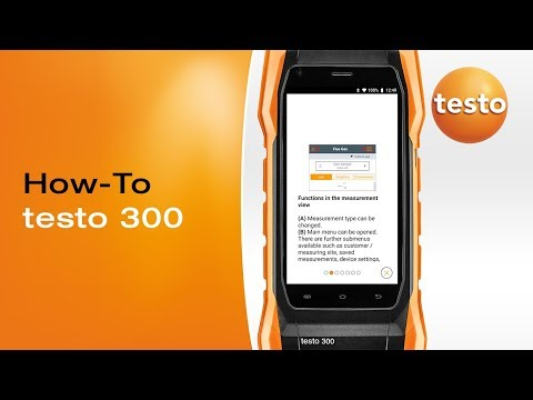 testo 300 Calling up the tutorial