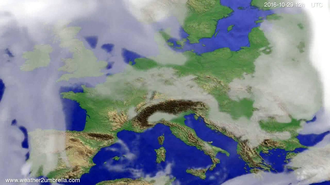 Cloud forecast Europe 2016-10-25