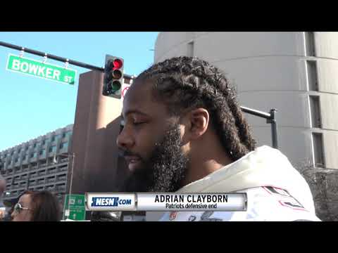 Video: Adrian Clayborn after the Patriots Super Bowl 53 victory parade
