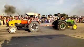 HMT 5911 & john deere Tractor Tochan competition in Kamana