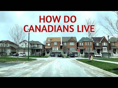 How do Canadians live | Driving through a neighbourhoods in Ontario
