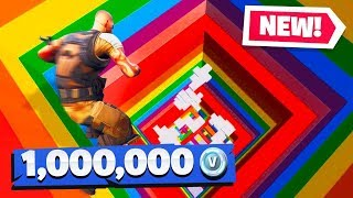 If You WIN, You Get 1 Million VBUCKS (Fortnite Rainbow Dropper Challenge)