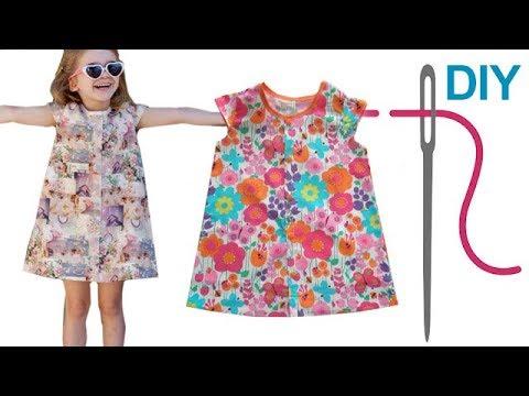 """Tunika / Kleid / einfaches Kleid mit Flügelärmelchen selber nähen """"DENISE"""" – für Nähanfänger"""