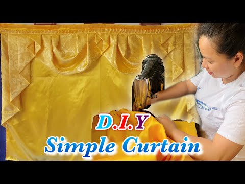 Easy DIY Curtain - How to Make a Simple Curtain | Inday Sastri