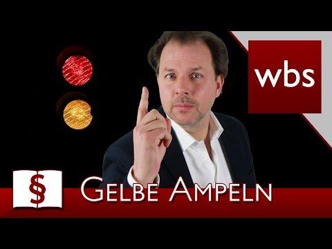 Jura Basics: Bei Gelb noch schnell über die Ampel | Rechtsanwalt Christian Solmecke