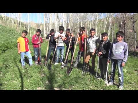 Yüksekova'da 23 Nisan  Ulusal Egemenlik Çocuk Bayramı Öğrenciler Dere Temizliğinde