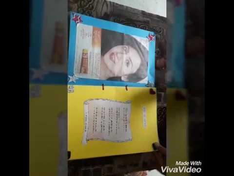 Handmade magazine for school project by -Aastha Singla