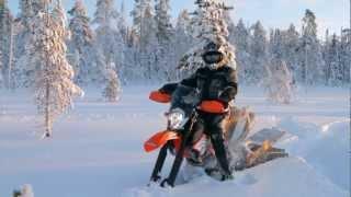 9. Kelkkalehti 2013 #001 - Snowbike - KTM 690 Enduro R + Timbersled Mountain Horse LT 137