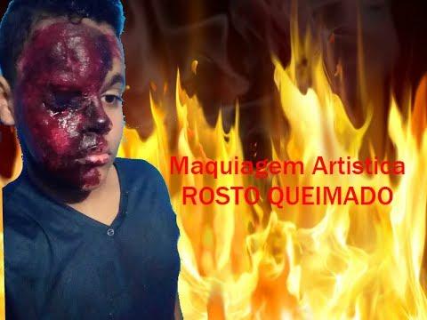 ROSTO QUEIMADO-Maquiagem Artística