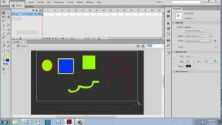 Vector Drawing Tools in Flash CS6 - Beginner