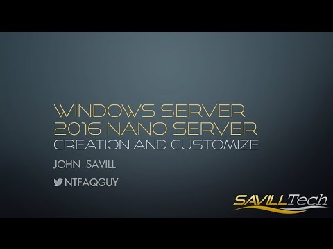 Introduction to using Nano Server in Windows Server 2016