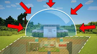 Minecraft: Easy & Simple Mob Proof Starter House Tutorial - How to Build