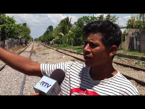 Siguen varados migrantes en Coatzacoalcos