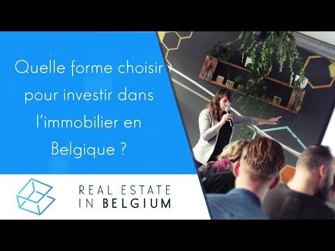 Quelle forme choisir pour investir dans l'immobilier en Belgique ?