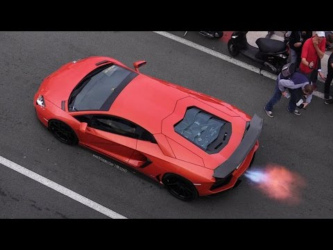 dmc lamborghini aventador exhaust insane sound & flames