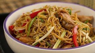 Cómo hacer fideos fritos chinos