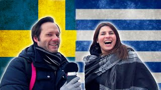 Swedish guy tries to speak Greek while a Greek girl repeats the Swedish in a language challenge. Click here for my Swedish course: ...
