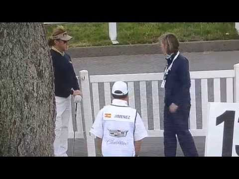 Keegan Bradley/ Miguel angel Jimenez golf face off