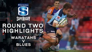 Waratahs v Blues Rd.2 2020 Super rugby video highlights | Super Rugby Video Highlights