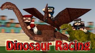 Minecraft | DINOSAUR RACING CHALLENGE - Dinosaurs Mod! (Racing Dinosaurs)