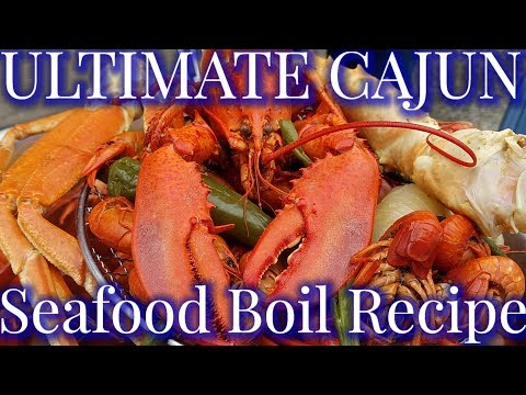 Ultimate Louisiana Cajun Seafood Boil 2019: King Crabs, Lobsters, Snow Crabs, & Crawfish!