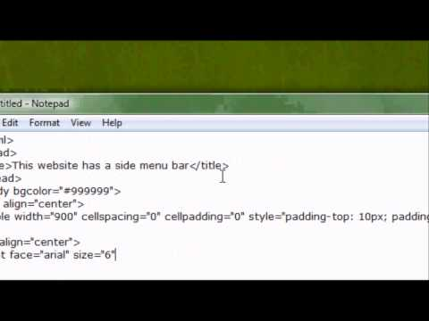 EdzJohnson - In this tutorial I will teach you how to make a side menu bar in html on your website design document. I will show you how to add links, space the website, a...