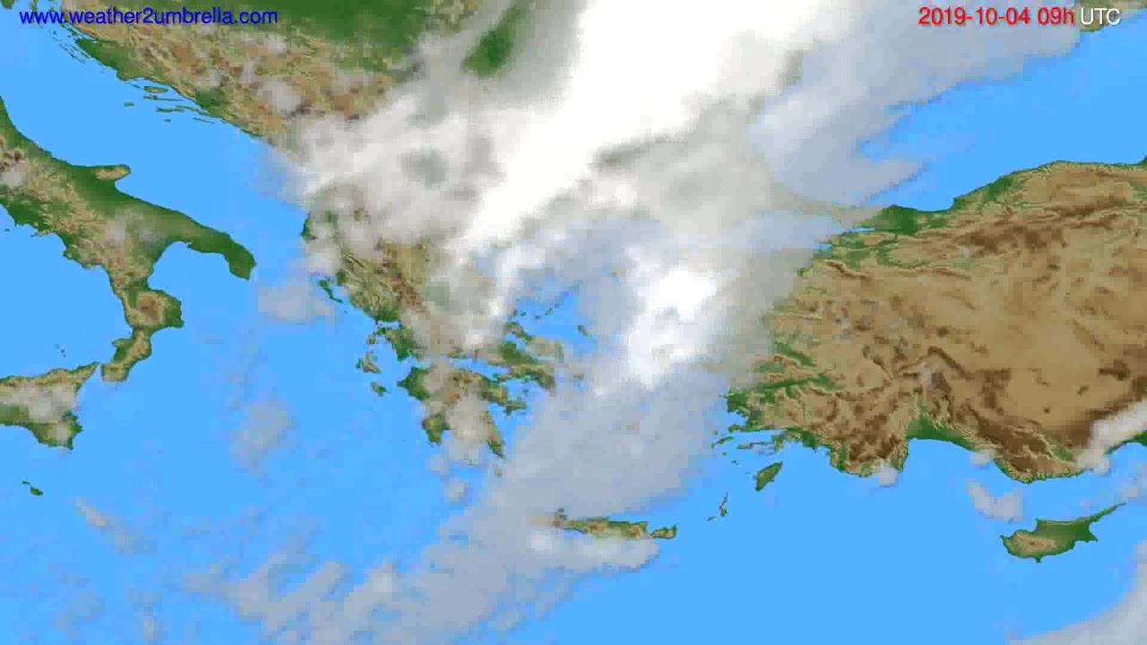 Cloud forecast Greece // modelrun: 12h UTC 2019-10-02