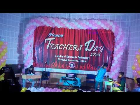 Teachers Day Celebration In ICFAI University Tripura 2k18 .. Performed by a Drama dance