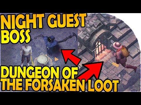 NIGHT GUEST BOSS + DUNGEON of the FORSAKEN LOOT, RAVENS, TRADER - Grim Soul Dark Fantasy Survival (видео)